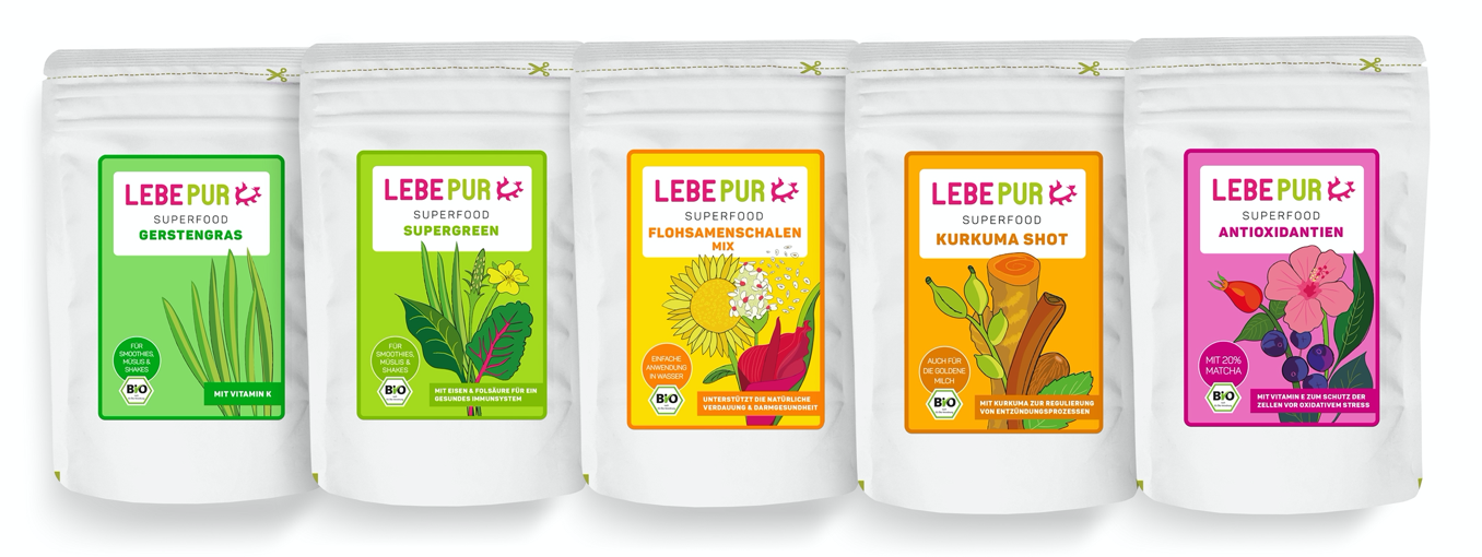 Superfood Beutel Lebepur