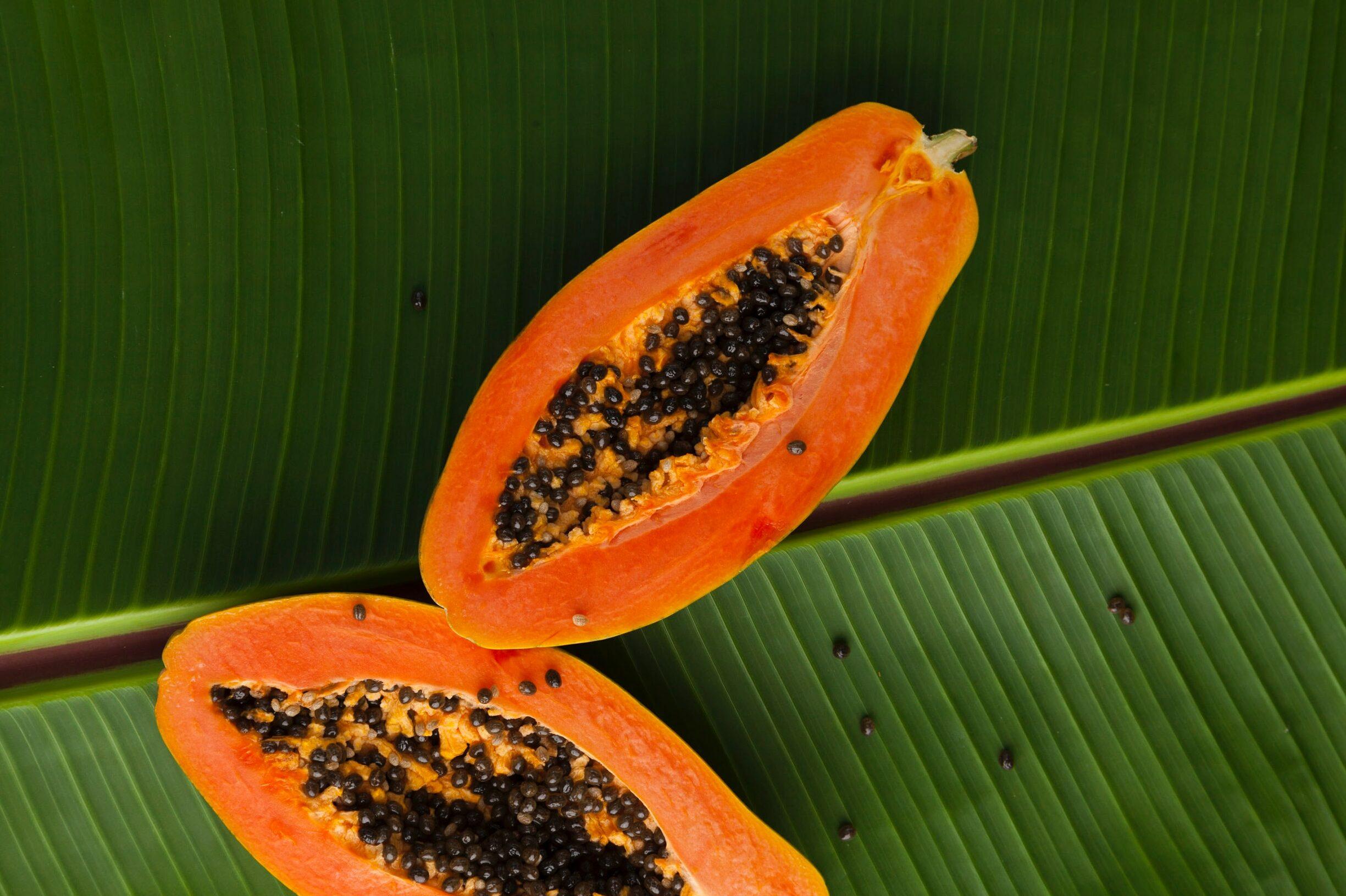 Die Papaya ist eine der wenigen Obstsorten, die während eine ketogenen Diät gegessen werden darf.